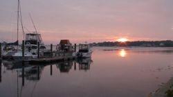 A West Island Summer's Calm at Dawn.