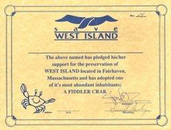 Save West Island Certificate