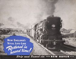 New Haven Railroad Photo Album Back cover