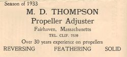 The Thompson Propeller Shop 1937