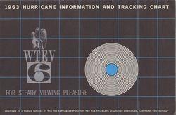 1963 Hurricane Tracking Chart WTEV-6 New Bedford, MA