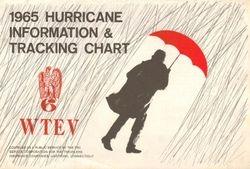 1965 WTEV-6 Hurricane Tracking Chart