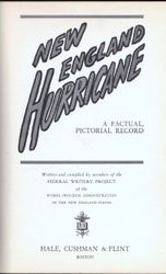 New England Hurricane 1938 Hard Cover