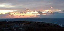 Sunrise from West Island Town Beach Friday, Dec 13, 2013