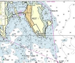 West Island Nautical Chart