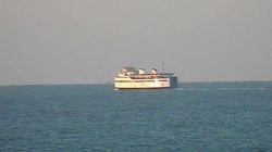 The ferry EAGLE, January 9, 2014