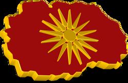 3D Macedonian Map & Flag