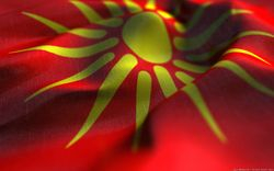 Wavy Macedonian Flag - Makedonsko Zname Se Vee