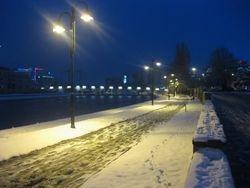Snowy in Downtown Skopje