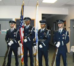 102nd Intelligence Wing Base Honor Guard from Otis Air Force Base.