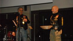 Drawings for door prizes are a part of every Freedom Biker's Night