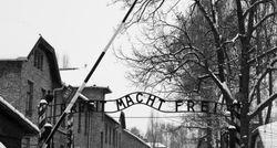 Auschwitz-Birkenau, the death gate.