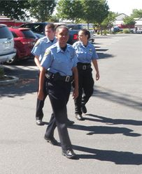 Brentwood Police Explorers providing traffic control