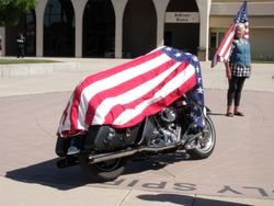 Willies ride embraced with flag honor
