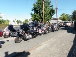 WWR and biker friends escorting Willie