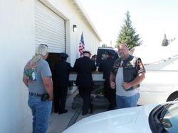 Arrival at the Sacramento mortuary