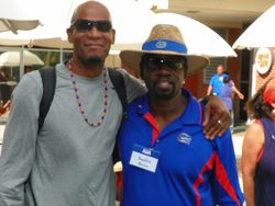 """Two of UF's Gator Great Hall of Famers, JAMES """"Pring"""" PRINGLE and """"Bodacious"""" BEAUFORT BROWN"""