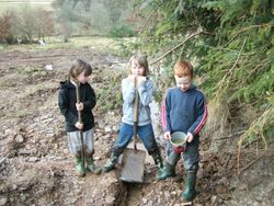 Three of our Jnr archers & thousands of Tadploles