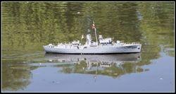 HMS Clarkia. Flower class  Corvette.