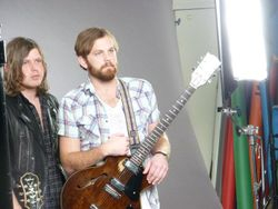 Behind the Scenes at the Photoshoot for an upcoming feature in Guitar World Magazine