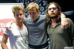 Backstage with Radio Uitzending, Antwerp, Belgium (29 Nov 10)