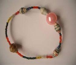 Beads making by women