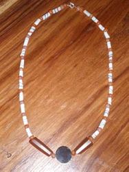 recycled powder glass beads & agate