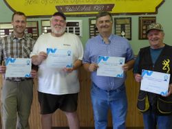 Certificates presented to Top Gun Team