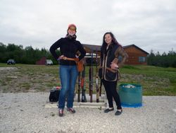 Ladies ENJOYING AN EVENING OF TRAP SHOOTING