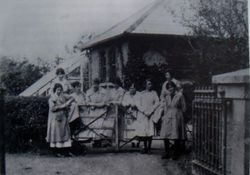 Women workers at Cuala Cottage 1908