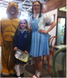 Dorothy and lionman met Grace at Nutgrove