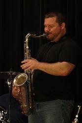 Chuck on the sax