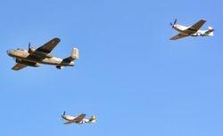 B-25 and Mustang pair