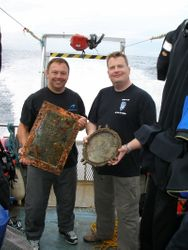 Brian and Brent with some unusually pretty brassware