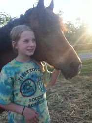 Me and Flynn in the pasture