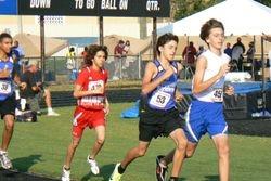 Alejando running the 1500