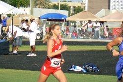 Lauren running the 1500 meters