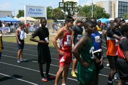 Michael running the 100
