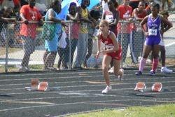 Lauren starting in the 200 meters