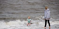 Come on in mum the water,s lovely