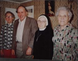 Frances Scanlon (nee Lane), Michael 'Brud' Lane, Sister Pauline ( Peggy Lane) and Mary Al Lane. All children of Nora Danaher & Thomas Lane. Nora was Philip Danaher's sister