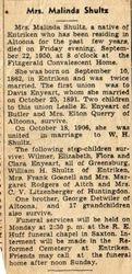 Detwiler, Malinda (Shontz, Enyeart, Shultz) 1862-1950