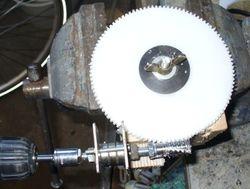 Hobbing the worm gear wheel