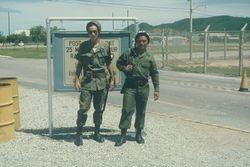 Bob Wegerzen with Thai Security Guard