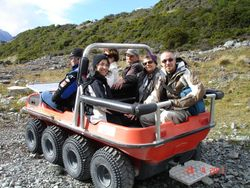 To see the Glasziers at Mt Cook NZ