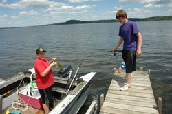 Fishing is A Favorite Past Time on Saratoga Lake