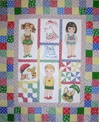 """Newcastle Fabrics """"Baby's First Paper Dolls"""""""