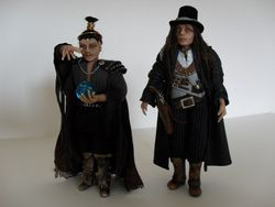 Sorcerer and his mate the wild west steampunk guy