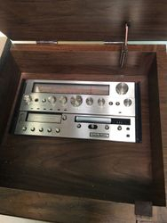 Early 1980s Curtis Mathes, three in one combo, FM - AM radio, deluxe color television & record player ...