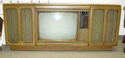 Curtis Mathes 1970's  TV console, radio (AM/FM) and 8-track and turntable.